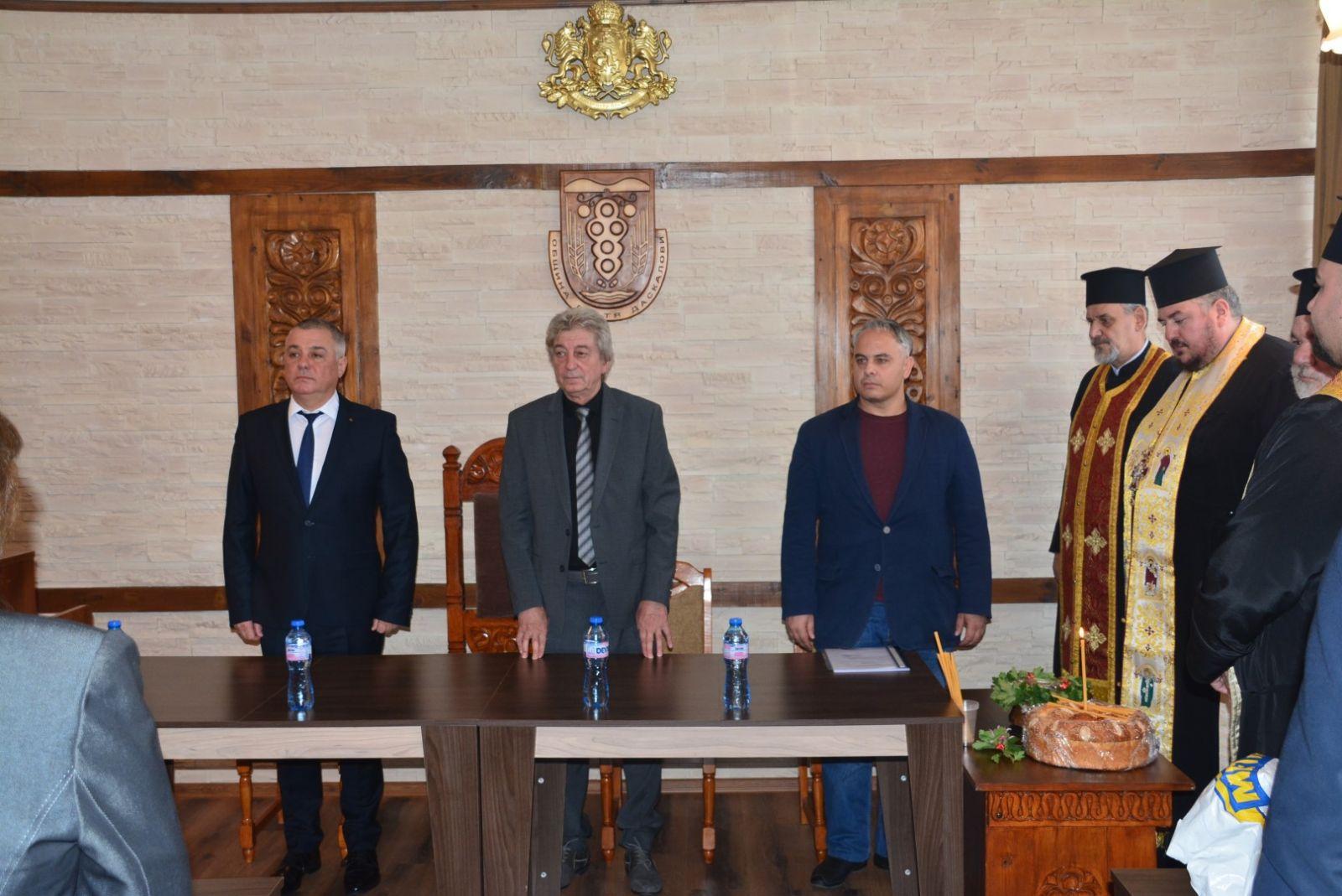 Зам. областният управител Красимир Червилов закле кметовете и общинските съветници от община Братя Даскалови